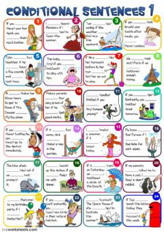 Conditional sentences - type 1 worksheet preview
