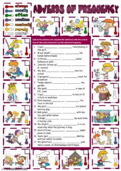 Adverbs of Frequency worksheet preview