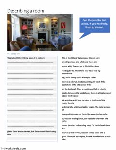 Interactive worksheet The Millers' Livingroom