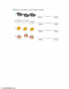 Interactive worksheet Orden
