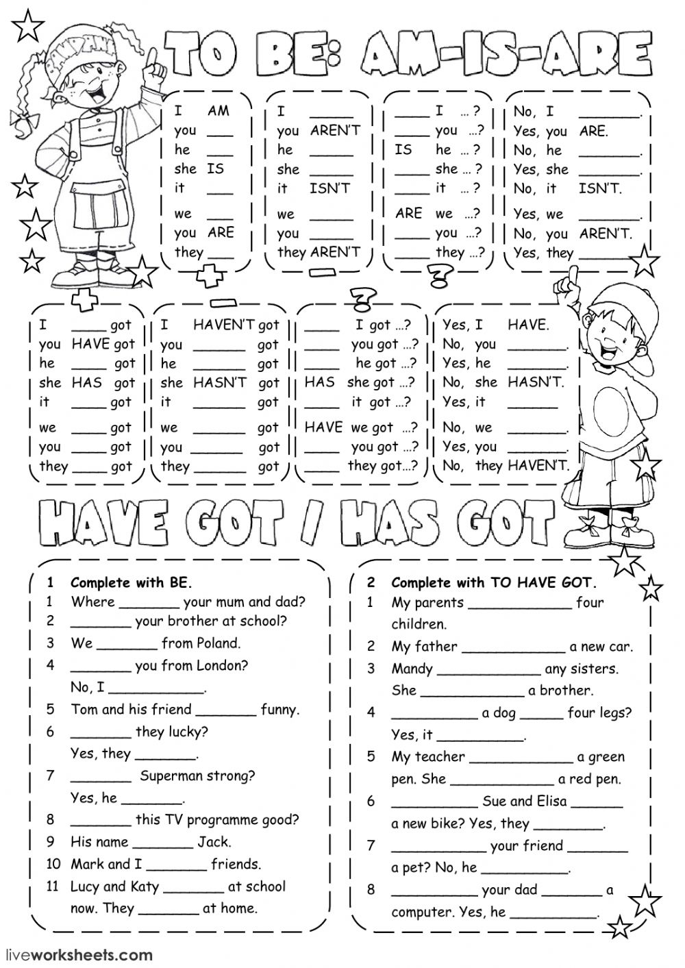 To be or to have got? - Interactive worksheet
