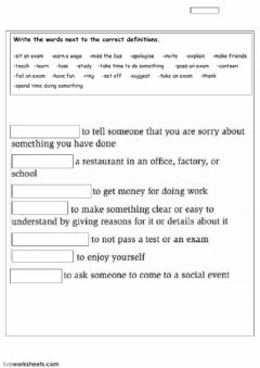 Interactive worksheet vocabulary - Free time