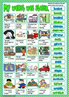 Interactive worksheet My wallet was stolen
