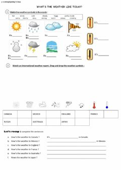 How's the weather today ? worksheet preview
