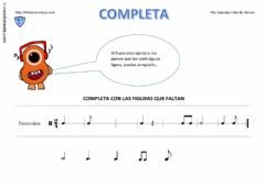 Interactive worksheet Completando compases