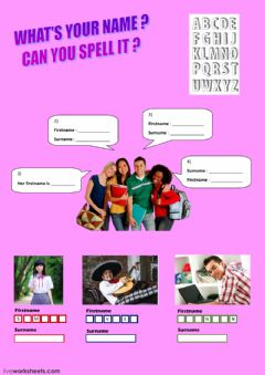 Interactive worksheet Can you spell your name ?