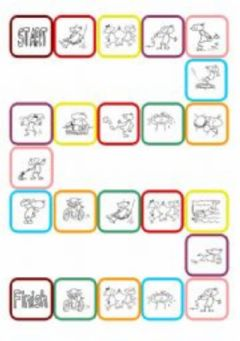 Interactive worksheet Action Verbs Dice Game