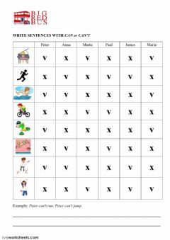 Interactive worksheet CAN