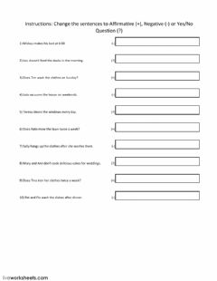 Interactive worksheet Sentence Structure in Simple Present Tense