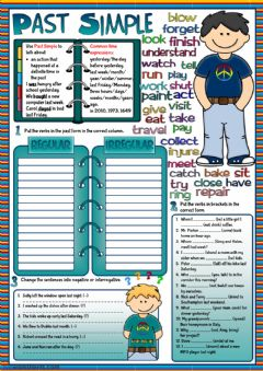 Interactive worksheet Past Simple practice