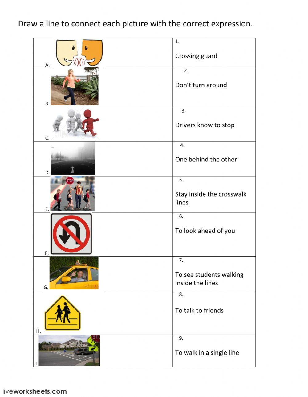Safety Rules Crossing the Street Safely   Interactive ...