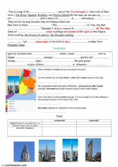 Interactive worksheet New York's boroughs