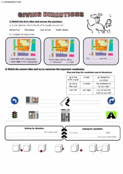 Interactive worksheet Give Directions