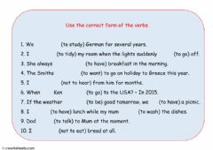 Tenses revisions worksheet preview