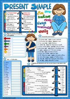 Ficha interactiva Present Simple - grammar guide and practice