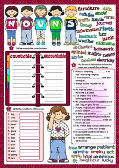 Nouns worksheet preview