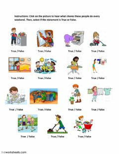 Simple Present Tense listening Exercise worksheet preview