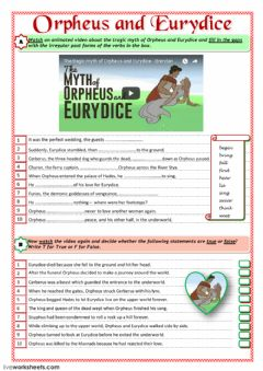 Interactive worksheet Orpheus and Eurydice