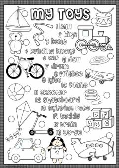 Interactive worksheet My toys - matching