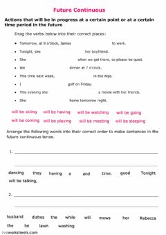 Interactive worksheet Future Continuous Rules