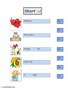 Interactive worksheet Short i