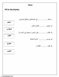 Interactive worksheet the occupations