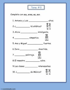 Interactive worksheet El vebo -ser-