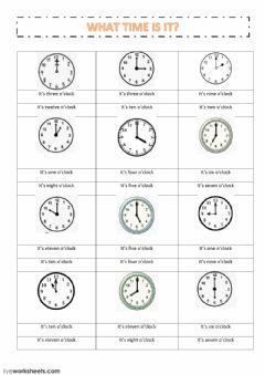 Time worksheet preview