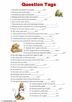 Interactive worksheet Tag Questions
