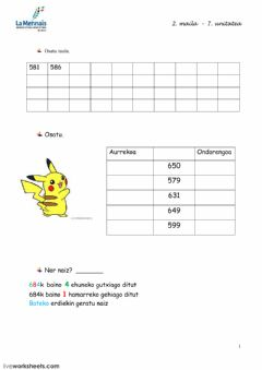Interactive worksheet 7.1 gaia LH2