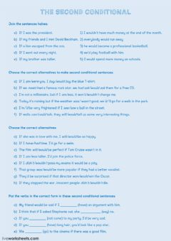 Interactive worksheet The second conditional