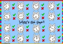 What's the time? - listening worksheet preview