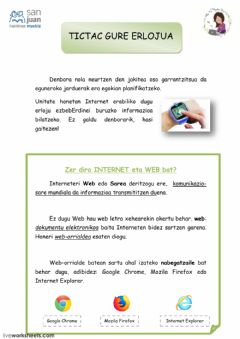 Interactive worksheet Zer da Internet?