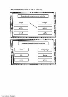 Interactive worksheet Nombres colectivos