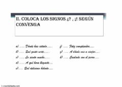 Interactive worksheet Signos interrogación exclamación