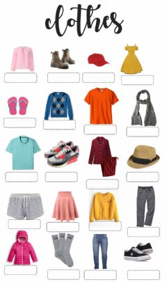 Clothes worksheet preview