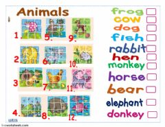 Interactive worksheet Animals  Puzzles