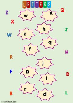 Interactive worksheet Match the letters