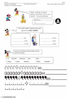 Interactive worksheet My favourite thing