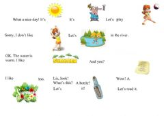 Interactive worksheet A message in a bottle