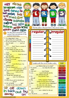 Parts of speech - verbs 2 worksheet preview