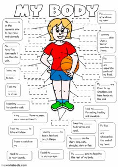Interactive worksheet My body 2
