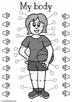 Interactive worksheet My body - listening