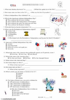 Interactive worksheet The Declaration of Independence