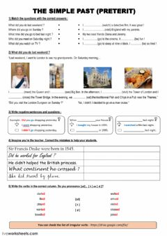 Interactive worksheet The Simple Past