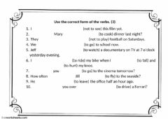 Tense revision (3) worksheet preview