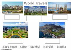 Interactive worksheet World Travels
