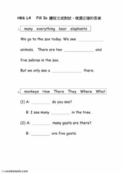 Interactive worksheet HK6 L4 fill in