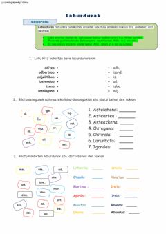 Interactive worksheet Laburdurak
