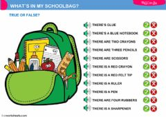 Ficha interactiva what's in my schoolbag?